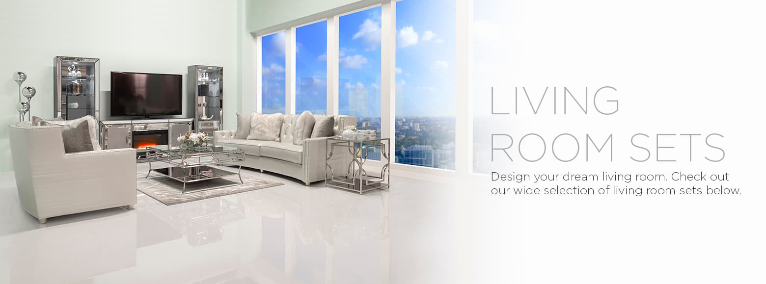 Living room sets. Design your dream living room. Check out our wide selection of living room sets below.