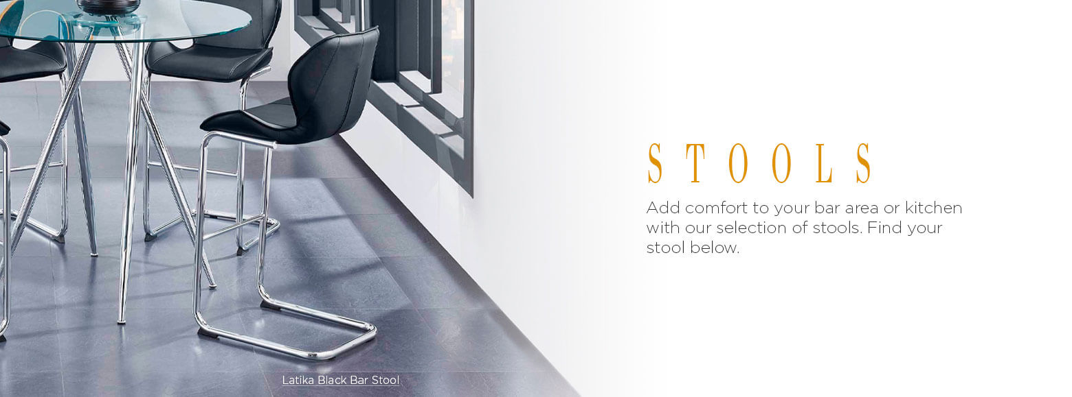 Stools. Add comfort to your bar area or kitchen with our selection of stools. Find your stool below. Latika Black Bar Stool.
