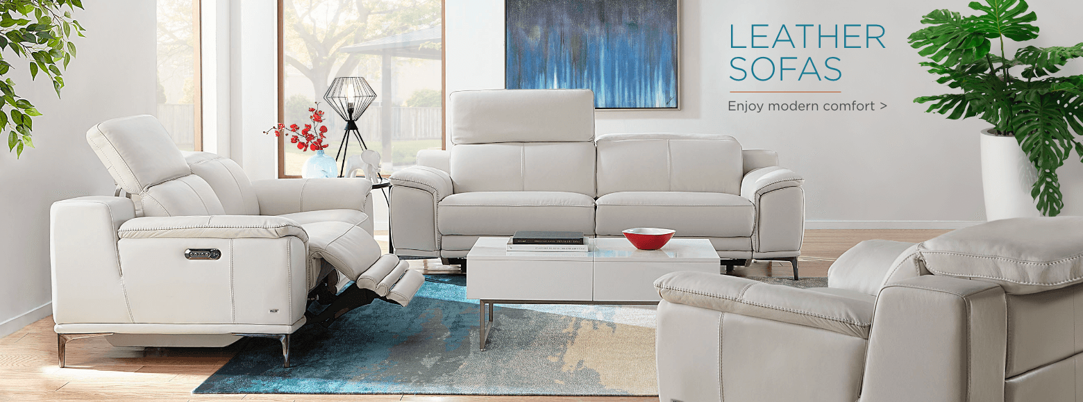 Leather sofas. Enjoy modern comfort.